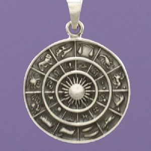 Purple Enchantments - Sterling Silver Zodiac Pendant
